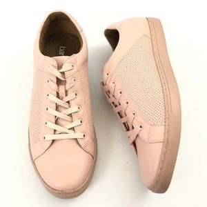 Bar III Mens Pink Leather Perforated Sneakers 11M